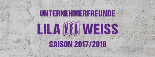 Unternehmerfreunde Lila Weiss - Saison 2017/2018